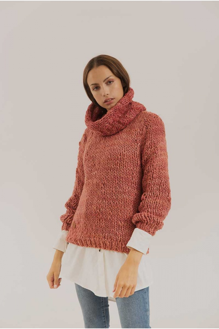 Sweater in Merino and Silk  Humahuaca Old Nude