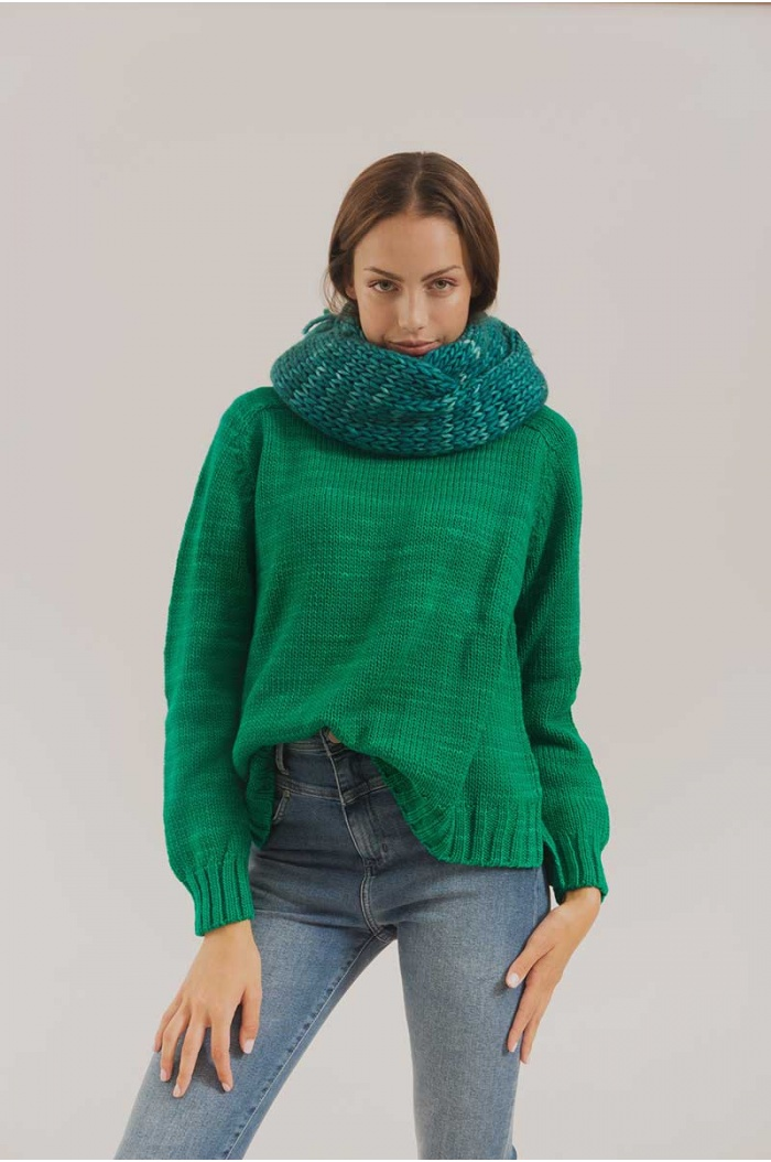 Sweater Paradox Merino 100% in True Green