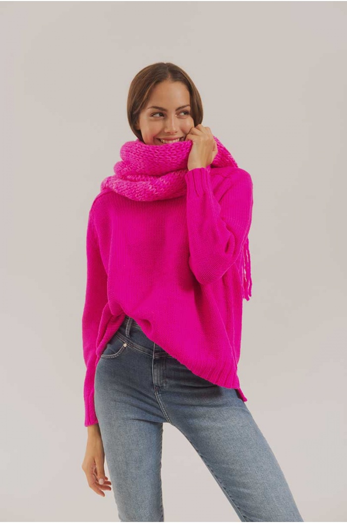 Sweater Paradox Merino 100% in fuchsia