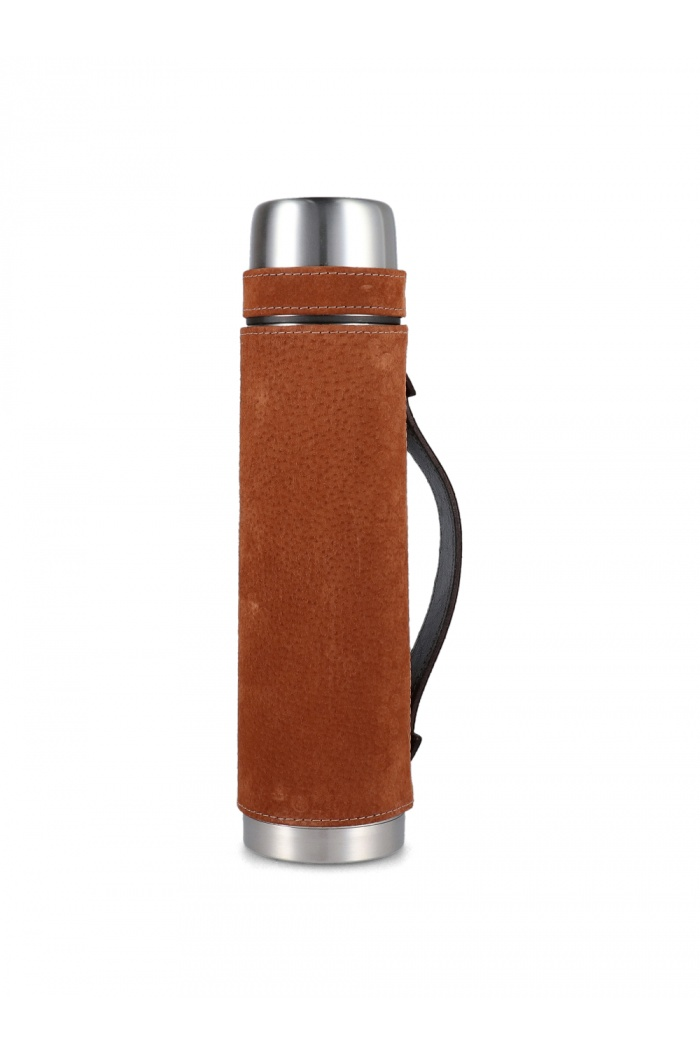 Tan Leather Flask