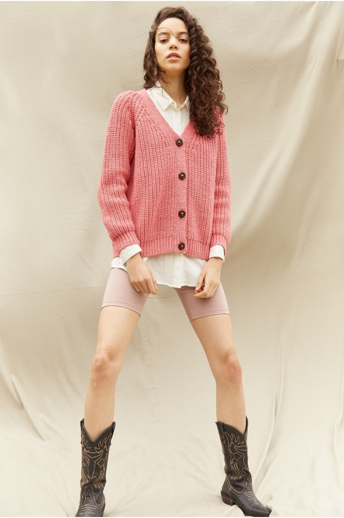 Perlado Couture Rose Cardigan