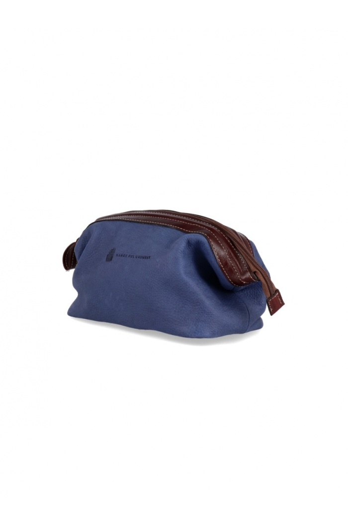 Blue leather Necessaire