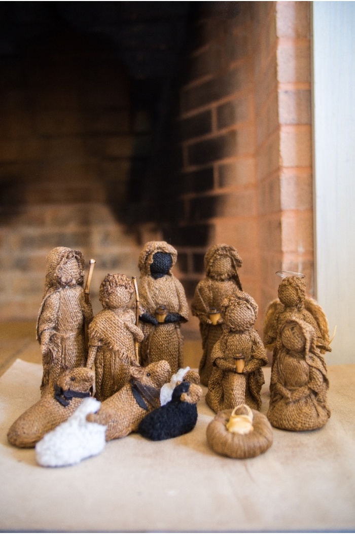 Burlap Big Christmas Nativity