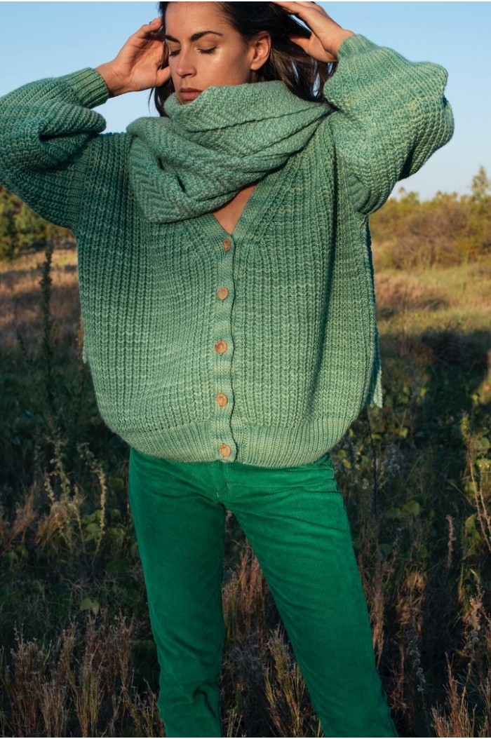 Couture Shawl in Green