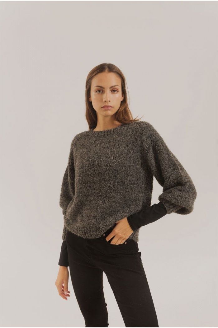 Modotti Sweater Baby Alpaca in Charcoal