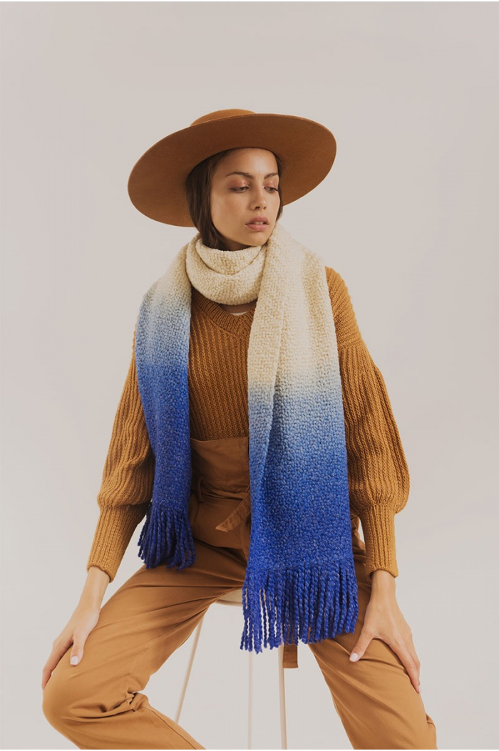 Sweater in Merino and Silk Memphis 2 Ocher