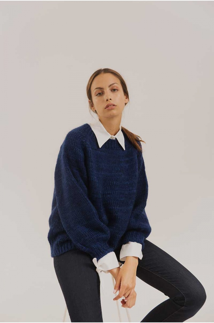 Sweater Mohair Frida Blue