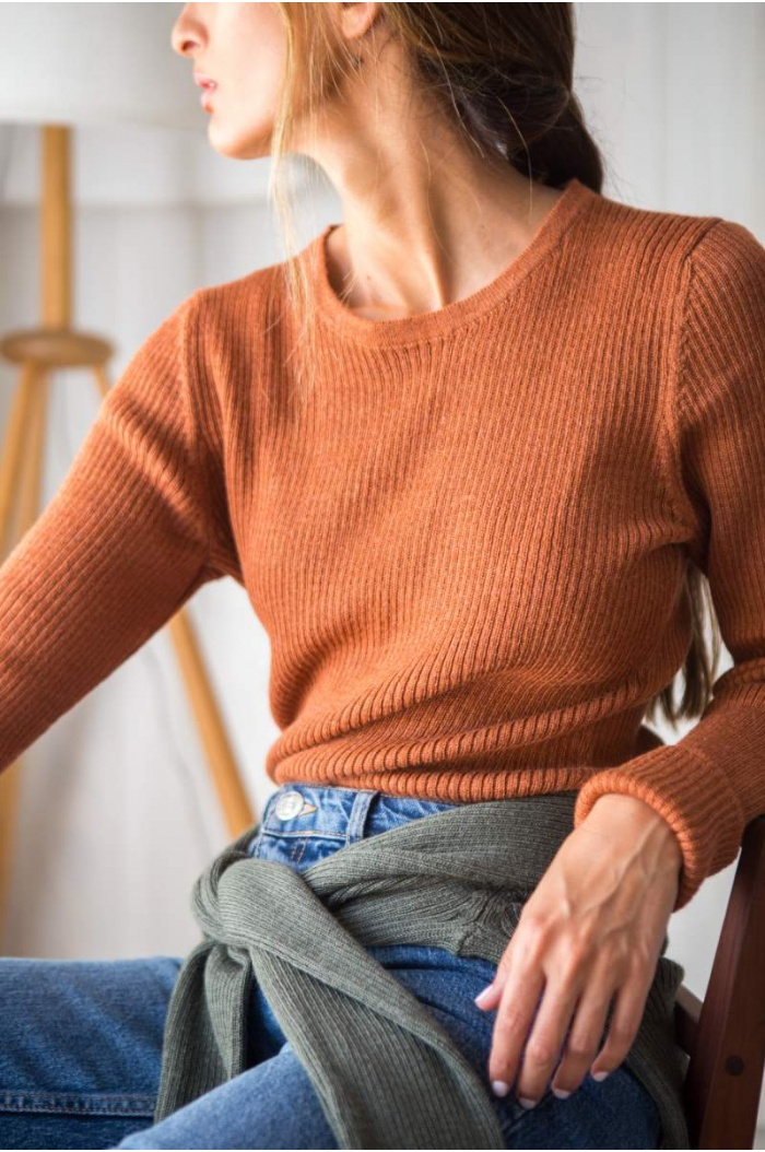 Sweater Canale in Tabaco