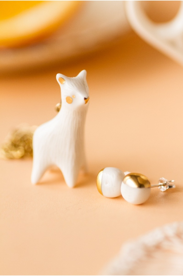White Llama Necklace