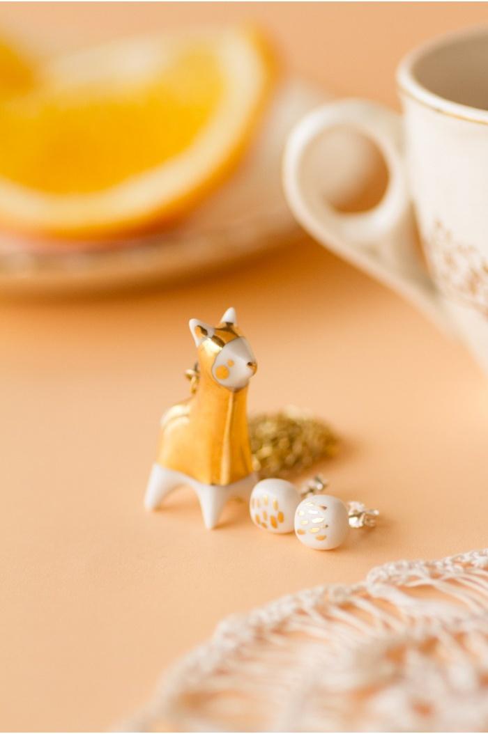 Golden Llama Necklace