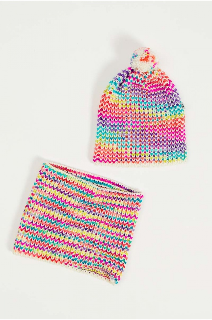 Rainbow Hat and Snood