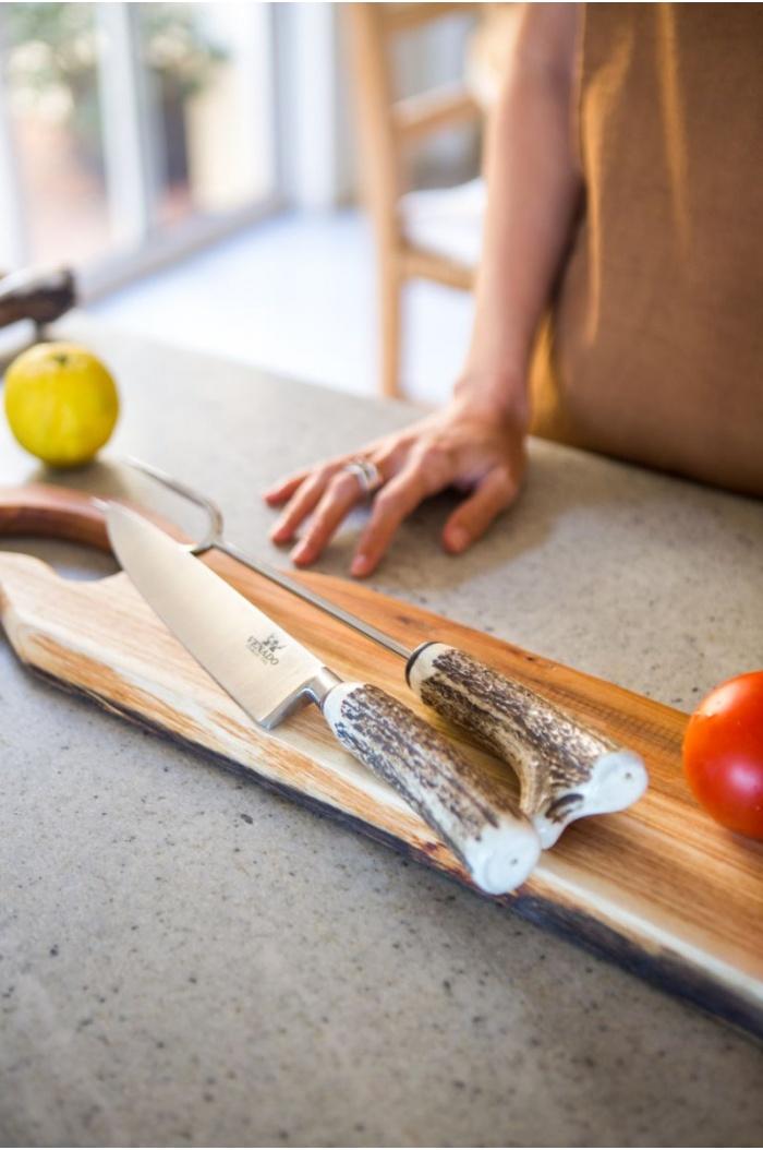 Horn Knife and Fork Set