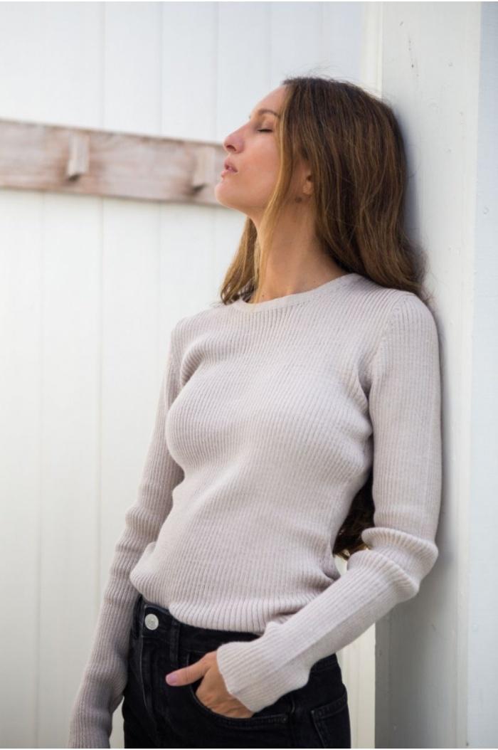 Sweater Canale in Beige