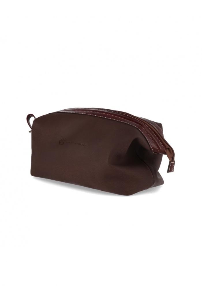 XL Brown Leather Necessaire
