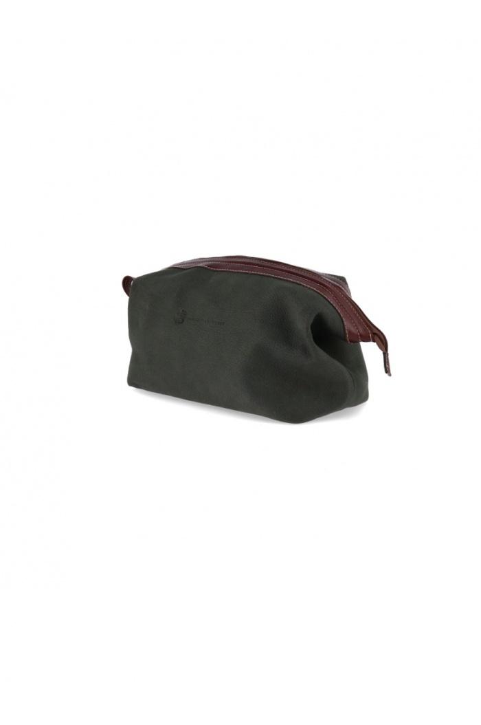 XL Green Leather Necessaire