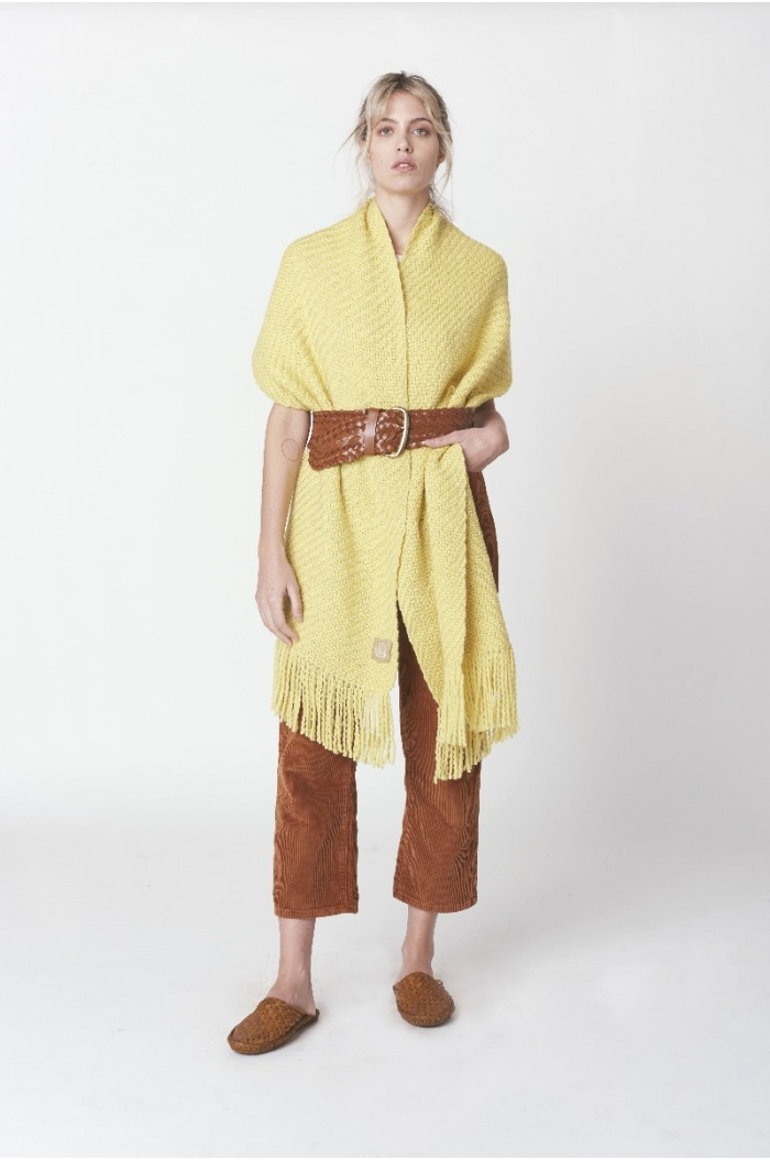 Huella Yellow Shawl