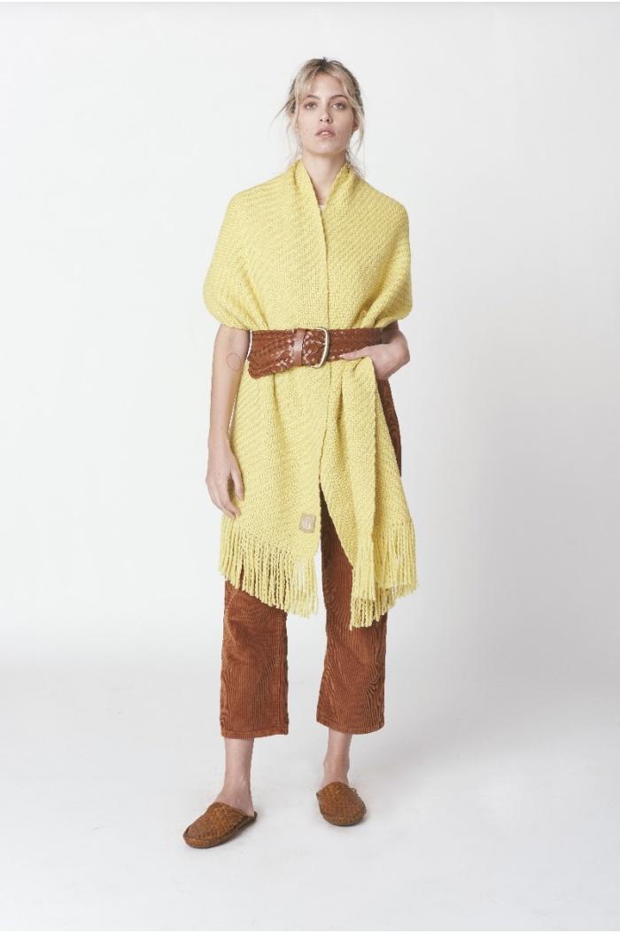 Huella Yellow Shawl