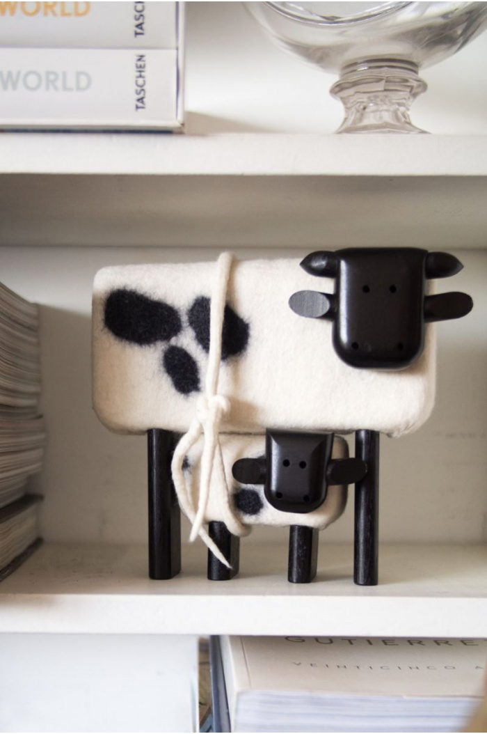 Felt Cow & Calf