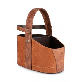 Tan Leather Car Matera with Strap