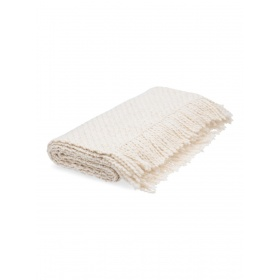 Off White Throw Huella