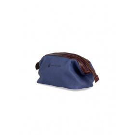 Blue leather Necessaire