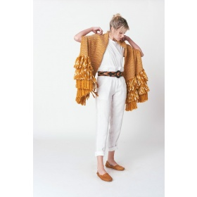 Bufalo Fan Ocher Shawl