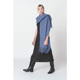 Huella Denim Shawl